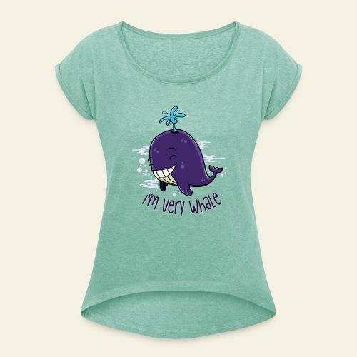 I'm very whale - T-shirt à manches retroussées Femme
