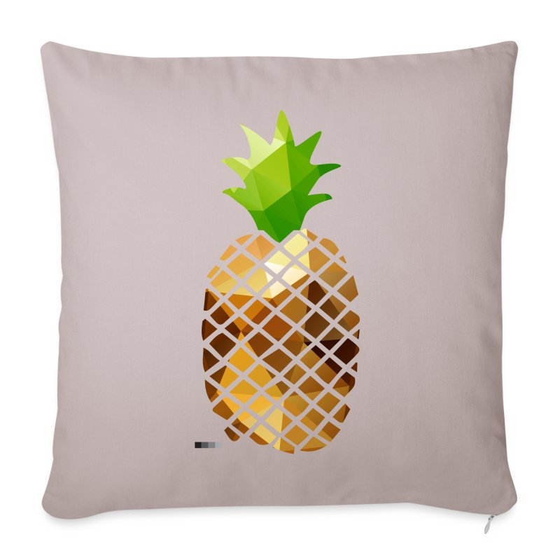 Pineapple (Low Poly) - Sofa pillow cover 44 x 44 cm