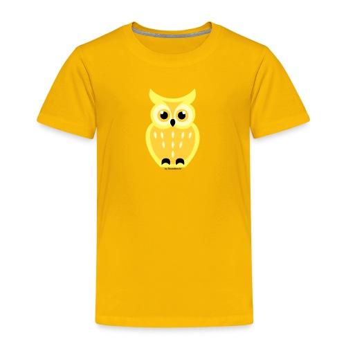 gelbe Eule - Kinder Premium T-Shirt