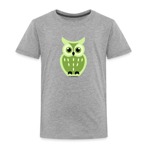 grüne Eule - Kinder Premium T-Shirt