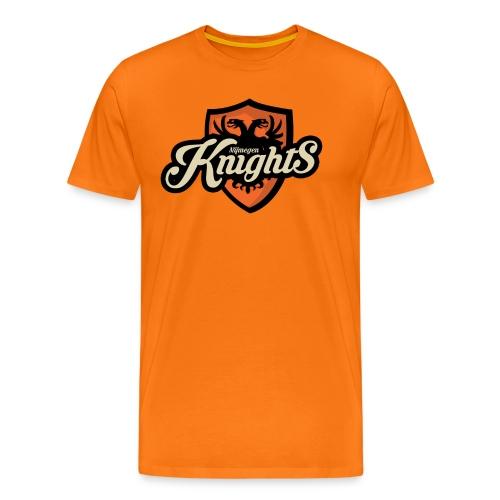 Nijmegen Knights T-Shirt Orange (Classic logo) - Mannen Premium T-shirt