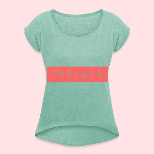 FABIwlr(cocomaustv) Shirt RedDes - Frauen T-Shirt mit gerollten Ärmeln