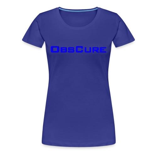 Women's Premium T Shirt white : royal blue - Women's Premium T-Shirt