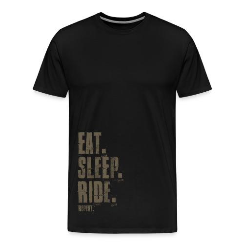EAT. SLEEP. RIDE. REAPEAT. - Männer Premium T-Shirt