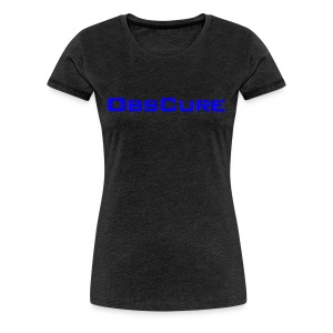 Women's Premium T Shirt white : charcoal gray - Women's Premium T-Shirt
