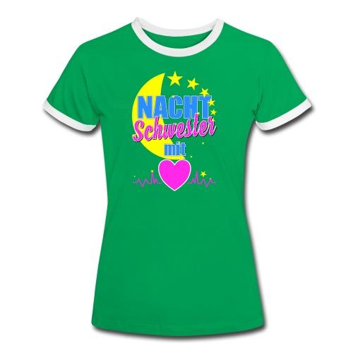 Krankenschwester T Shirt für Nachtschwester im Krankenhaus - Frauen Kontrast-T-Shirt