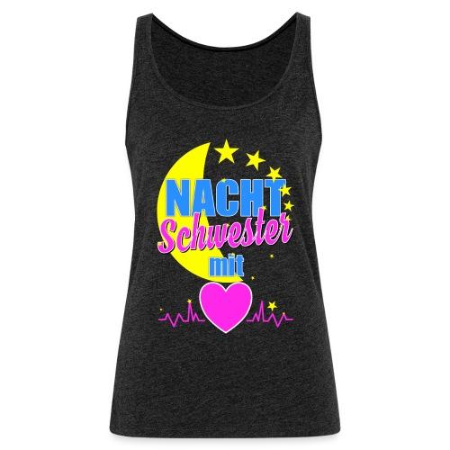 Krankenschwester T Shirt für Nachtschwester im Krankenhaus - Frauen Premium Tank Top