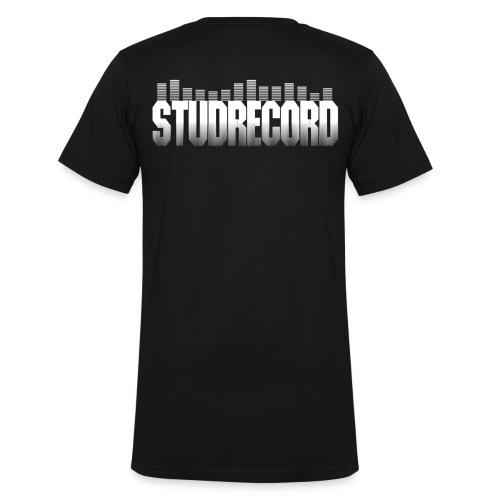 Tee-Shirt Noir StudRecord   - T-shirt bio col V Stanley & Stella Homme