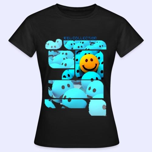 Yellow Smiley Emoji T-shirt - Frauen T-Shirt
