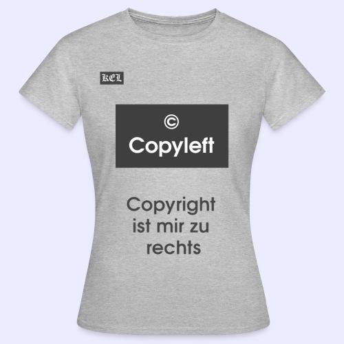 Copyleft T-shirt - Frauen T-Shirt