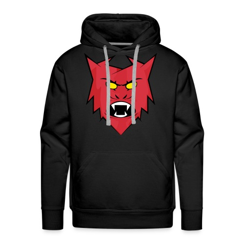 Team Chronic Plain Black Hoodie (Red) - Men's Premium Hoodie