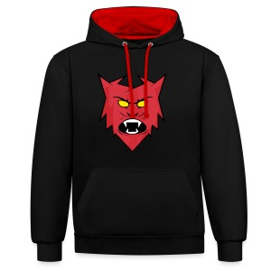 Team Chronic Red/Black Hoodie - Contrast Colour Hoodie