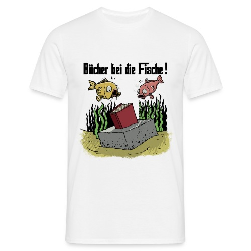 Bücher bei die Fische (Schwarze Schrift) - Männer T-Shirt