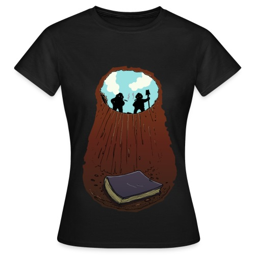 Büchergrab Girlie - Frauen T-Shirt
