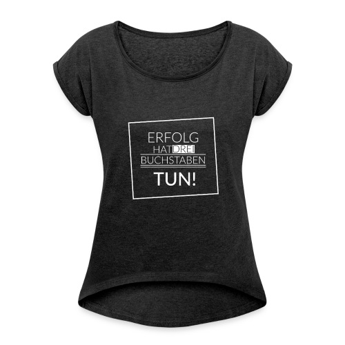 Woman T-Shirt - Frauen T-Shirt mit gerollten Ärmeln