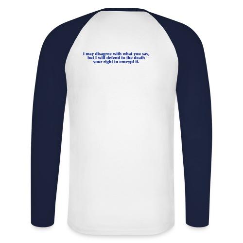 Encrypt - Männer Baseballshirt langarm