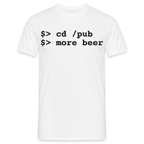 T-Shirt more beer - Männer T-Shirt