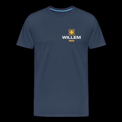 DDE - Eigen naam op T-shirt (men) | Navy - Mannen Premium T-shirt