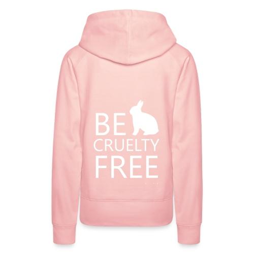 BE CRUELTY FREE  - Hoodie - Ladys, rosa - Frauen Premium Hoodie