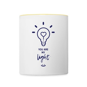 you are my light - Tasse bicolore