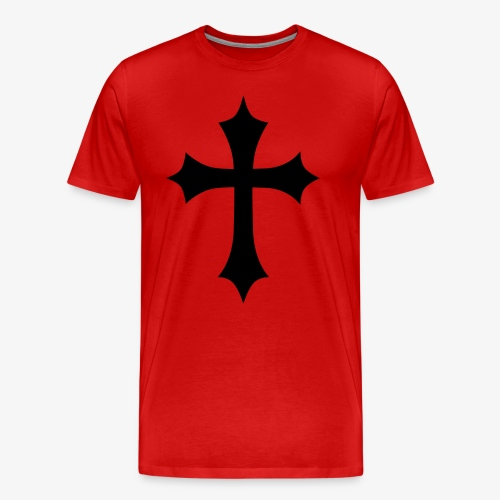 Gothic Cross Kreuz Jesus Christ Gottes Symbol Kreuze Männer T-Shirt - Männer Premium T-Shirt