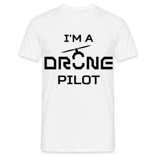 DDE Drone Pilot T-shirt (men) | Logo groot | White - Mannen T-shirt