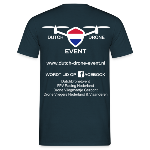 DDE Drone Pilot T-shirt (men) | Logo groot | Navy - Mannen T-shirt