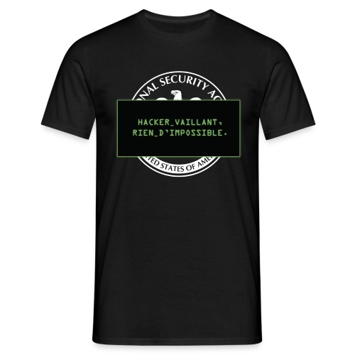Hacker vaillant rien d'impossible - T-shirt Homme
