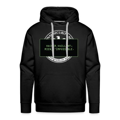 Hacker vaillant rien d'impossible - Sweat-shirt à capuche Premium pour hommes