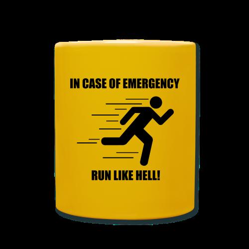 In case of emergency run like hell! - Full Colour Mug