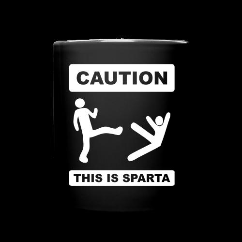 Caution this is Sparta - Full Colour Mug