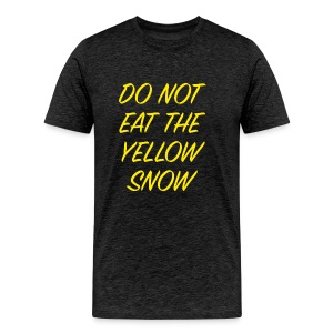 Oh oh yellow snow - Mannen Premium T-shirt