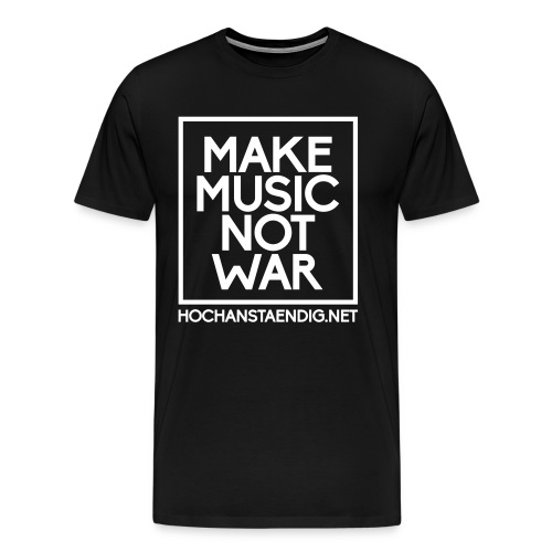 Make Music Not War Shirt - Männer Premium T-Shirt
