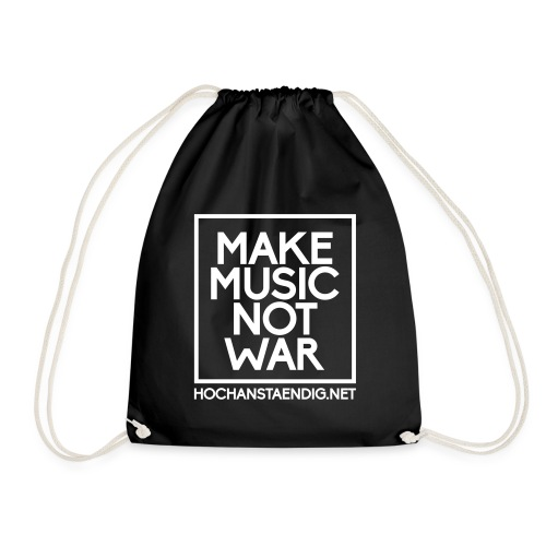 Make Music Not War Beutel - Turnbeutel