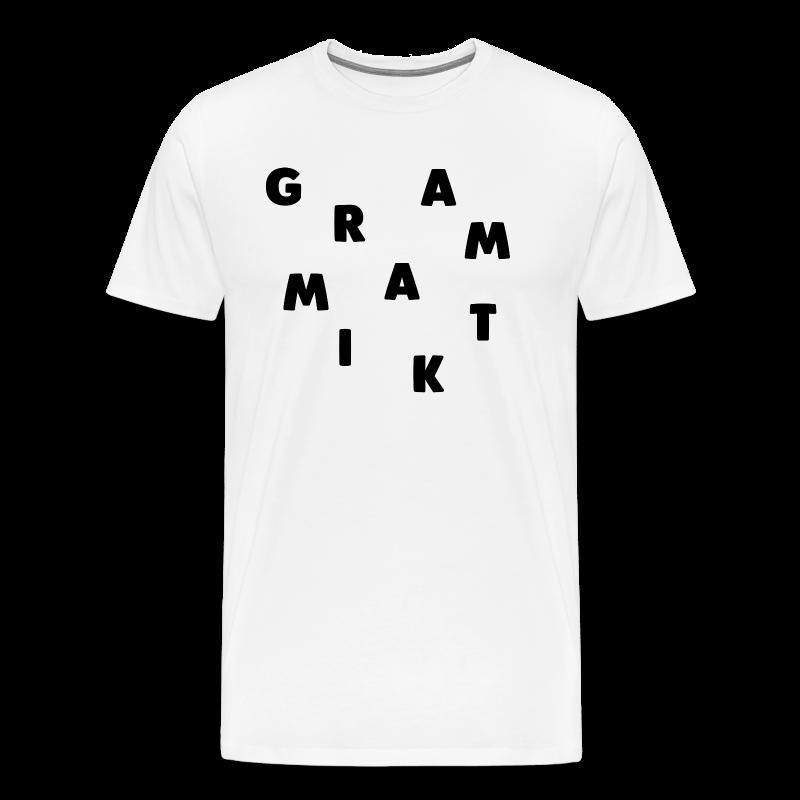 Grammatik - T-shirt (unisex) - Herre premium T-shirt