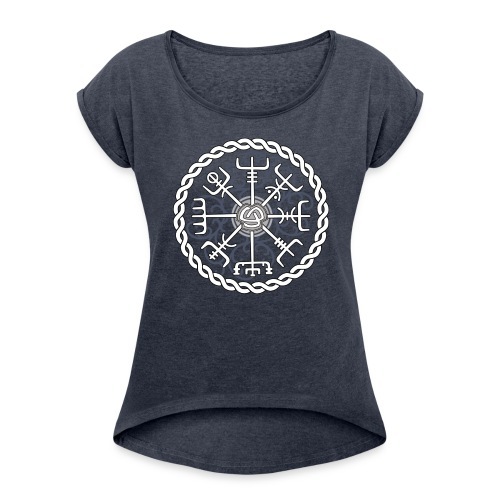 Compass - Women's T-Shirt with rolled up sleeves