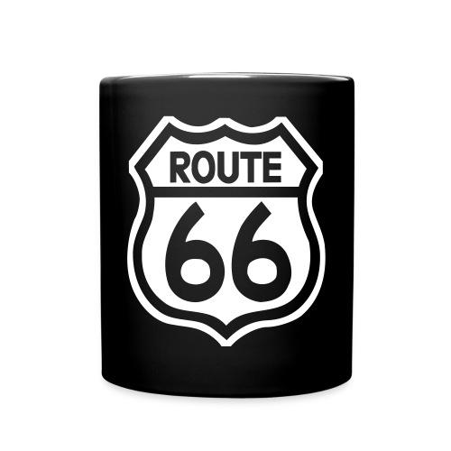 Schwarze Mug - Route 66 weiss - Tasse einfarbig
