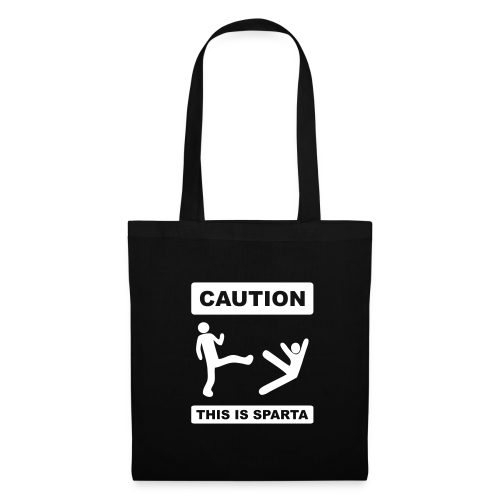 Caution this is Sparta - Tote Bag