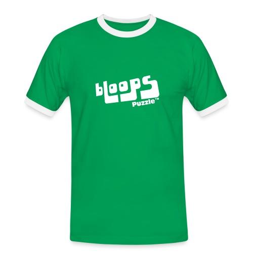 Men's Ringer Shirt bLoops Puzzle (printed white) - Kontrast-T-skjorte for menn