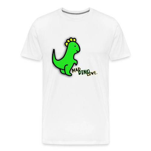 Jerry - Mad Dino Love.  Men's T-Shirt - Men's Premium T-Shirt