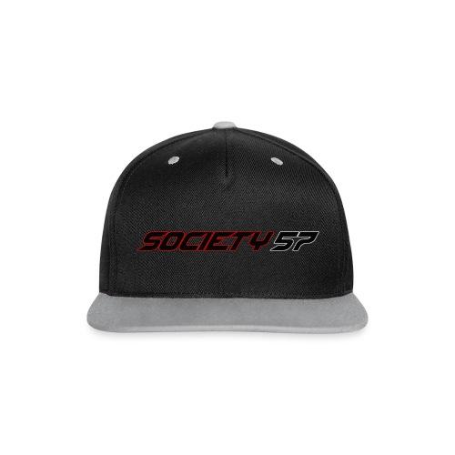 Society57 Snapback mit Schriftzug - Kontrast Snapback Cap