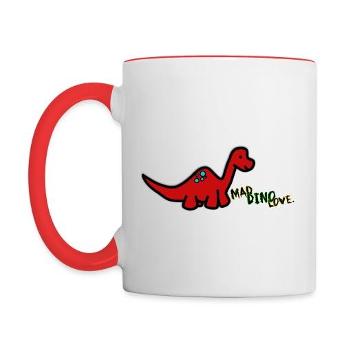 Joe - Mad Dino Love. Mug - Contrasting Mug