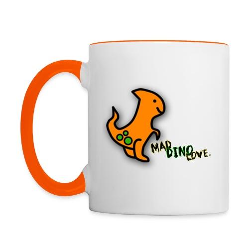 Henry - Mad Dino Love.  Mug - Contrasting Mug