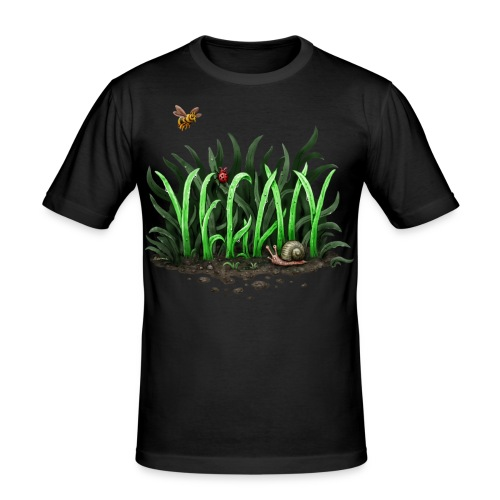 Grow Vegan (slim fit) - Männer Slim Fit T-Shirt