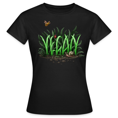 GROW VEGAN! (girl) - Frauen T-Shirt