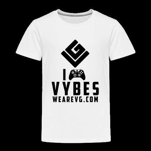 I love Vybes Kid's T-shirt (White) - Kids' Premium T-Shirt
