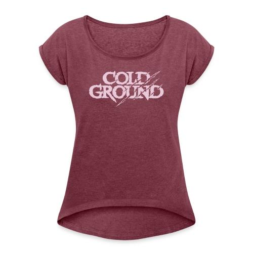 COLD GROUND - T-shirt Retro #Crimson - T-shirt à manches retroussées Femme