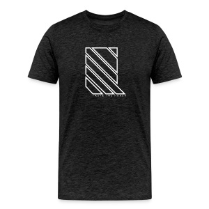 LINES - 2017 Premium Vintage Tee in charcoal with white print - Men's Premium T-Shirt