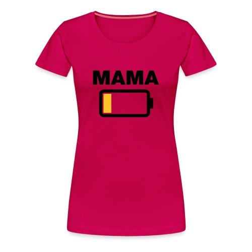 Papa Batterij op 2 - Vrouwen Premium T-shirt