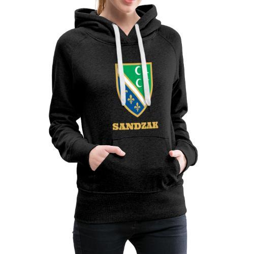 Premium Frauenkapuzenpullover, Sandzak - Frauen Premium Hoodie